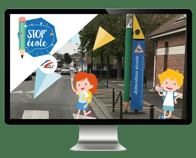 stop école, location de mobilier urbain pour la sécurité des écoliers